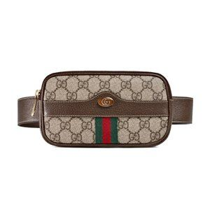Gucci Ophidia GG Supreme Canvas/ Leather Belt Bag